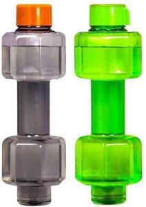Khodiyarfashion Dumbbell Shape Bottles Set of 2 1000ml (Multicolor) 1000 ml Bottle (Pack of 2)