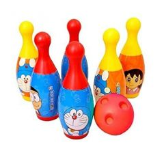 Ethnic Forest Bowling Set Plastic 6 Pins 1 Balls Educational Mini Bowling Toy for Kids (Doremon)