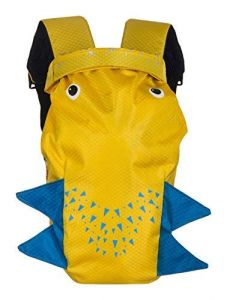 Kidsafe Belt School Blow Fish Travel Pool Nylon Swim Bag (Aqua Yellow)
