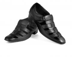 Bxxy's Height Increasing Synthetic Leather Roman Sandals For Men