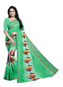 Women's Fashionble & Stylish Georgette Saree (Multi, 5.5-6mtrs)