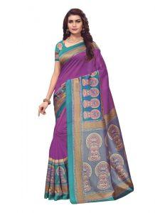 Women's Fashionble & Stylish Silk Saree (Wine | 5.5-6mtrs)