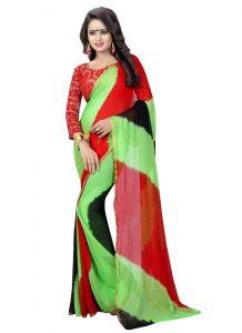 Women's Fashionble & Stylish Chiffon Saree (Multi | 5.5-6mtrs)