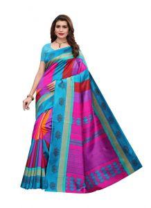Women's Fashionble & Stylish Silk Saree (Green, 5.5-6mtrs)
