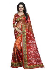 Women's Fashionble & Stylish Silk Saree (Multi, 5.5-6mtrs)