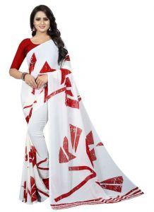 Women's Fashionble & Stylish Georgette Saree (Multi   5.5-6mtrs)