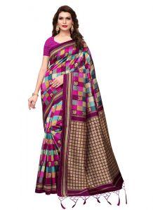 Women's Fashionble & Stylish Silk Saree (Pink | 5.5-6mtrs)