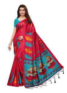 Women's Fashionble & Stylish Silk Saree (Red | 5.5-6mtrs)