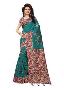 Women's Fashionble & Stylish Silk Saree (Green | 5.5-6mtrs)