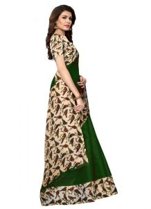Women's Fashionble & Stylish Khadi Saree (Green | 5.5-6mtrs)