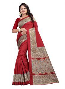 Women's Fashionble & Stylish Silk Saree (Maroon | 5.5-6mtrs)