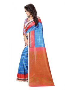 Women's Fashionble & Stylish Silk Saree (Multi   5.5-6mtrs)