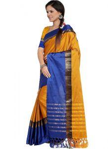 Women's Fashionble & Stylish Silk Cotton Saree (Yellow | 5.5-6mtrs)