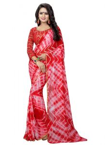 Generic Womens Chiffon Saree(Multi   5.5-6mtrs)
