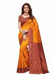 Women's Fashionble & Stylish Silk Saree (Yellow | 5.5-6mtrs)