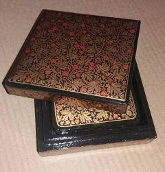 DehqaniandBros Coaster Set Hand Painted Paper Mache Coaster Set