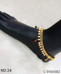 Women Designer Anklets Ethnic Wedding Fashion Jewelry (Free Size)