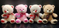 Shree Sai Durga Dhoom Toys | Cute & Lovely Huggable Love Heart Teddy Bear Best Gift for Kids & Girls | Size - 30CM | (Pack of 1)