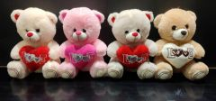Shree Sai Durga Dhoom Toys | Cute Love Heart Teddy Bear Best Gift For Kids and Girls | Size - 25CM | ( Pack of 1) (Multi-Color)