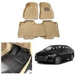 After Cars Cream Carpet Floor/Foot 4D Mats for Hyundai Elantra