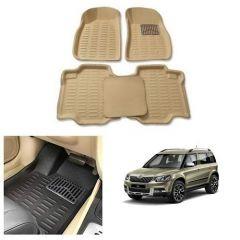 After Cars Cream Carpet Floor/Foot 4D Mats for Skoda Yeti