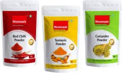 Mummaa's Coriander Powder (100g) + Turmeric Powder (100g) + Chilli Powder (100g)