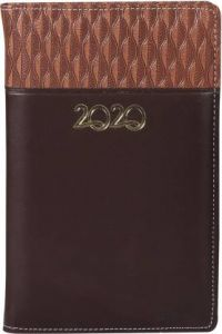 Toss Diary 2020 A5 Diary Single Rule 330 Pages (Brown) (Pack OF 1)