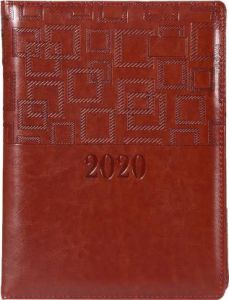 Toss Soft Bound 2020 B5 Diary Single Rule 330 Pages (Brown) (Pack Of 1)