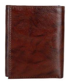 ASPENLEATHER Genuine Leather RFID Blocker Brown Wallet For Men
