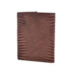 ASPENLEATHER Bi-Fold Embossed Leather Multi Features Brown Wallet For Men With Side Flap