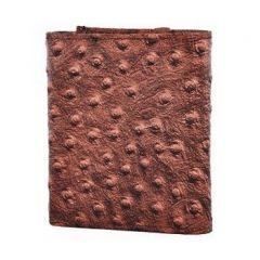 ASPENLEATHER Bi-Fold Embossed Leather Wallet For Men With Side Flap (Dark Brown)