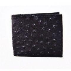 ASPENLEATHER Bi-Fold Black Embossed Genuine Leather Wallet For Men With Side Flap