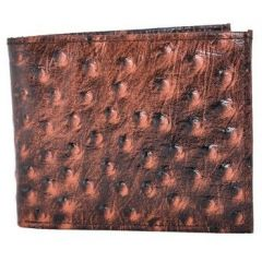 ASPENLEATHER Bi-Fold Stylish Brown Embossed Leather Wallet For Men With Side Flap