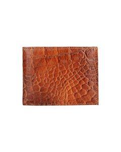 ASPENLEATHER Tan Genuine Leather RFID Blocker Wallet For Men