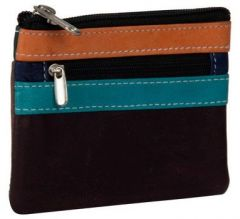 ASPENLEATHER Genuine Leather Multicolor Wallet For Women (Grey)