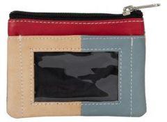 ASPENLEATHER Genuine Leather Multicolor Wallet For Women (Black)
