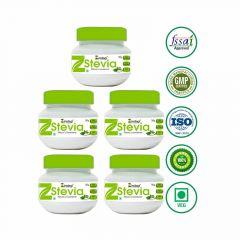 Zindagi Stevia White Powder - 100% Natural Sugar-Free (Pack Of 5)