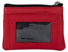ASPENLEATHER Genuine Leather Multicolor Wallet For Women (Red)