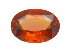 Jewelzon Certfied Hessonite Garnet (Gomed) 10.25 to 10.80 Ratti Birthstone Stone | Certified Astrological Gemstone | Natural