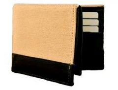 ASPENLEATHER Genuine Canvas Leather Wallet For Men