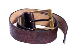 Kashan's Pure Men's Leather Belt for Men's - Brown