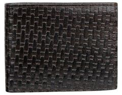 ASPENLEATHER Bi-Fold Stylish Embossed Leather Wallet For Men With Side Flap (Chocolate)
