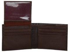 ASPENLEATHER Brown Genuine Leather RFID Blocker Wallet For Men (Brown)