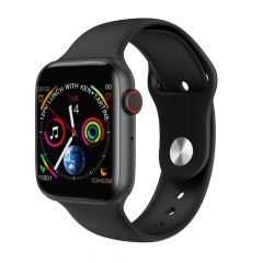 RSFuture W34 Fit Pro Series 4 Full Touch Colored Display Smart Watch with Calling | Fitness Band | ECG Monitor | Activity Tracker | Heart Rate Sensor | Camera Control Feature (Black)