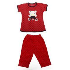 Babydoll Girls Super Soft Cotton Kids Nightwear Night Dress Hosiery Top and Payjama Set