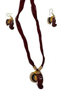 Hydes Terracotta Necklace Set for Women