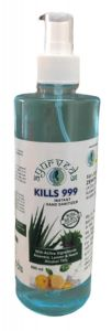 Kills 999 Alcohol, Govt. Approved, Aayurvedik Best in Quality and WHO Recommended Formula Zenes Biotech's Sanitizer Liquid with Spray Pump for Hand Rub and Disinfectant (500ml)