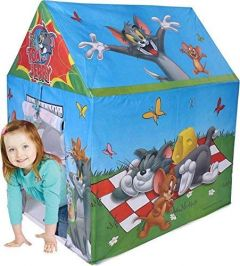 Ethnic Forest Play House for Kids | Lightweight Waterproof Tent House for Boys and Girls |Pretend Play /Tent House with Cartoon Characters (Tom & Jerry)