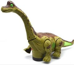 Won Kid's Battery Operated Walking, Moving Dinosaur Toy with Flashing Lights and Realistic Dinosaur-Sounds, Available in 2 Colours (Green)