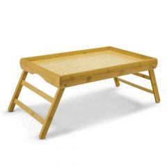 Freelance Bamboo Leg Foldable Dining Table Breakfast Serving Table Bed Study Laptop Lap Desk